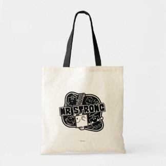 Mr. Strong | Black & White Budget Tote Bag