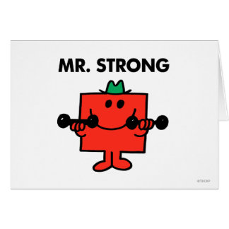 Mr Strong Classic 2 Greeting Card