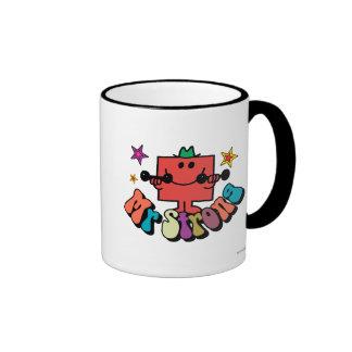 Mr. Strong | Colorful Lettering & Stars Ringer Mug