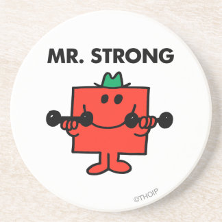 Mr. Strong | Lifting Weights Beverage Coasters