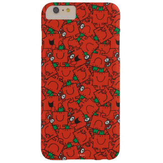 Mr Strong   Lifting Weights Red & Green Pattern Barely There iPhone 6 Plus Case