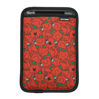 Mr Strong | Lifting Weights Red & Green Pattern iPad Mini Sleeve