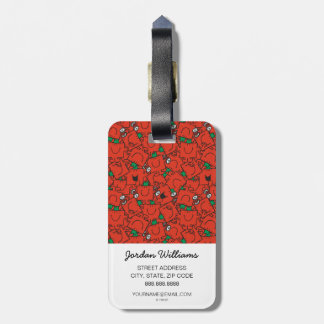 Mr Strong | Lifting Weights Red & Green Pattern Luggage Tag