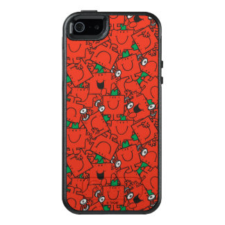 Mr Strong | Lifting Weights Red & Green Pattern OtterBox iPhone 5/5s/SE Case