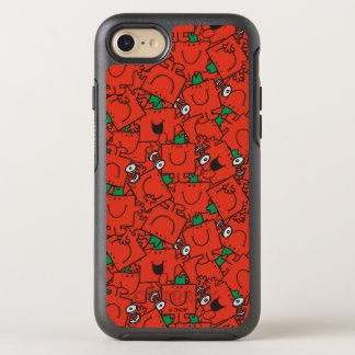 Mr Strong | Lifting Weights Red & Green Pattern OtterBox Symmetry iPhone 8/7 Case