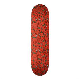 Mr Strong | Lifting Weights Red & Green Pattern Skateboard Decks