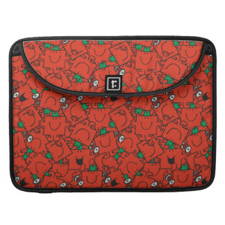 Mr Strong | Lifting Weights Red & Green Pattern Sleeve For MacBooks