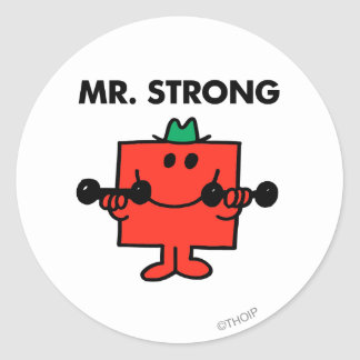 Mr. Strong | Lifting Weights Round Sticker