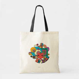 Mr. Strong | Psychedelic Swirls, Stars, & Flowers Budget Tote Bag