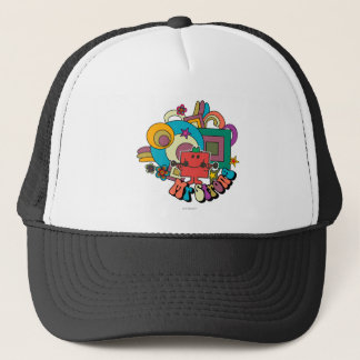 Mr. Strong | Psychedelic Swirls, Stars, & Flowers Trucker Hat