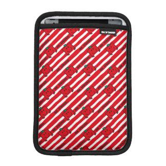 Mr Strong | Red Stripes Pattern iPad Mini Sleeve