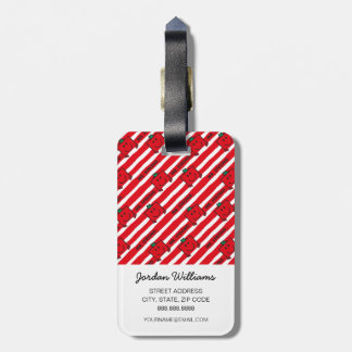 Mr Strong | Red Stripes Pattern Luggage Tag
