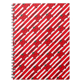 Mr Strong | Red Stripes Pattern Notebook