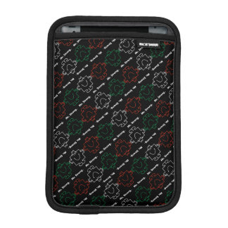 Mr Strong | Red, White & Green Pattern iPad Mini Sleeve