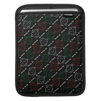 Mr Strong | Red, White & Green Pattern Sleeves For iPads