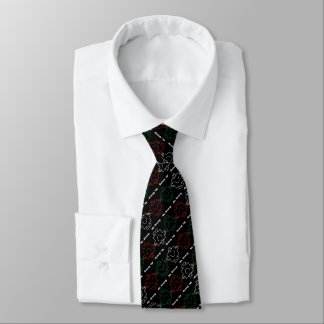 Mr Strong | Red, White & Green Pattern Tie