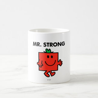 Mr. Strong Waving Hello Basic White Mug