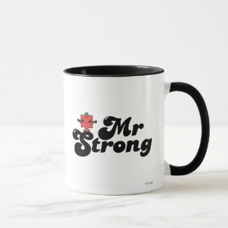 Mr. Strong | Weights & Bubble Lettering Mug