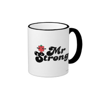 Mr. Strong | Weights & Bubble Lettering Ringer Mug