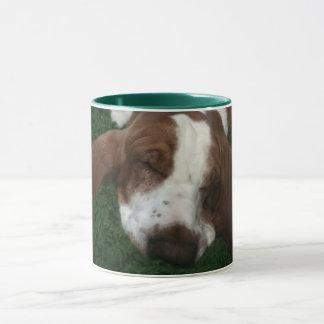 Mr.Sully Sleeping Basset Mug