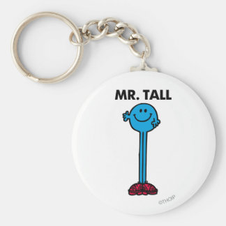 Mr. Tall | Standing Tall Basic Round Button Key Ring