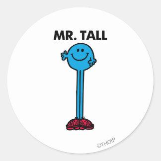 Mr. Tall   Standing Tall Round Sticker