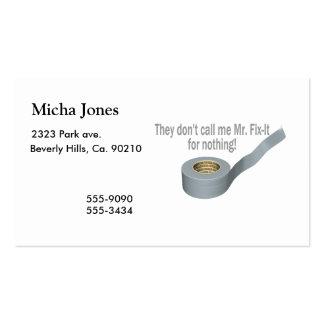 Mr Tape Fix It Business Card
