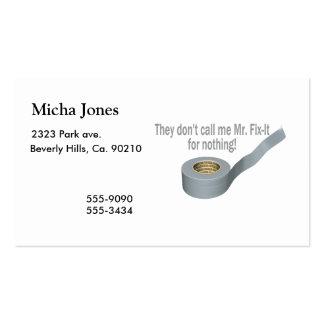 Mr Tape Fix It Pack Of Standard Business Cards