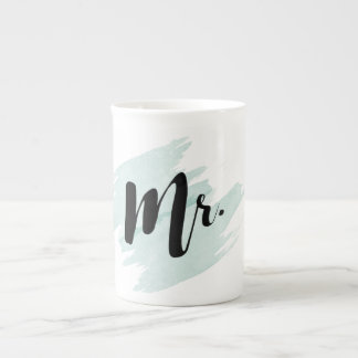 Mr. Teal Watercolor Mug