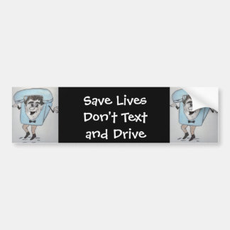 Mr Telephone - Don't Text And Drive Bumper Sticker