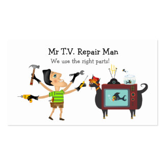 Mr Television Repair Man Business Cards