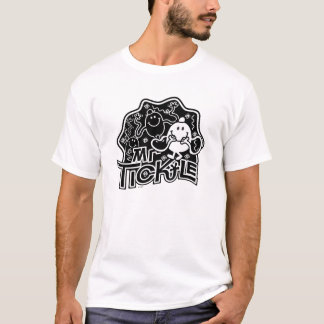 Mr. Tickle | Black & White Fun T-Shirt