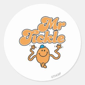 Mr. Tickle   Jiggling Arms Round Sticker