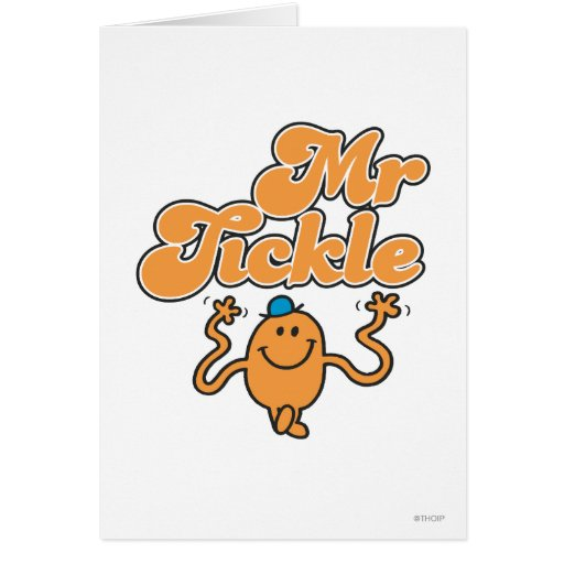 Mr Tickle Logo 2 Greeting Cards