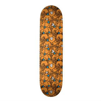 Mr Tickle | Orange Tickle Pattern 21.6 Cm Skateboard Deck