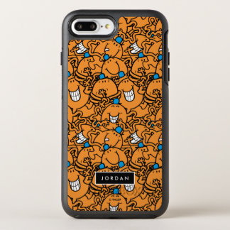 Mr Tickle | Orange Tickle Pattern | Add Your Name OtterBox Symmetry iPhone 8 Plus/7 Plus Case