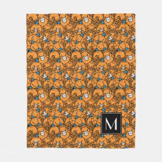 Mr Tickle | Orange Tickle Pattern | Monogram Fleece Blanket