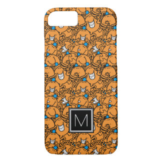 Mr Tickle | Orange Tickle Pattern | Monogram iPhone 8/7 Case
