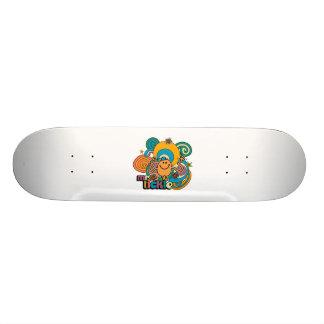 Mr Tickle Swirl Color Custom Skate Board