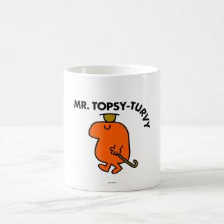Mr. Topsy-Turvy | Upside Down Hat & Cane Basic White Mug