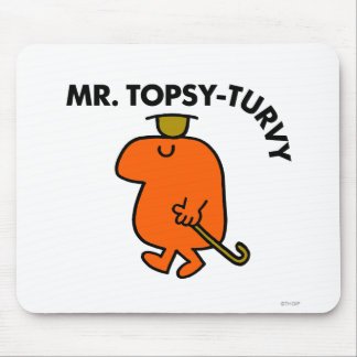 Mr. Topsy-Turvy | Upside Down Hat & Cane Mouse Pad