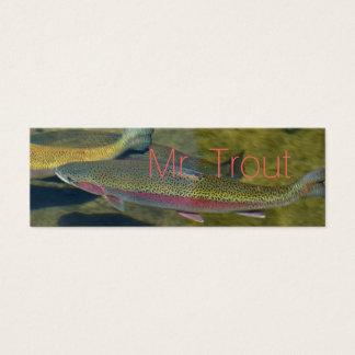 Mr. Trout business Cards Personalize Unique Skinny