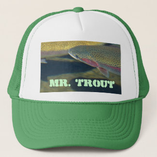 Mr Trout hats Rainbow Lake Trout Fishing Fisherman