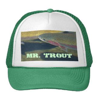 Mr Trout hats Rainbow Lake Trout Fishing Fisherman