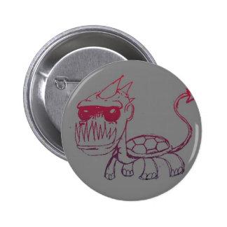 Mr. Turtle Monster 6 Cm Round Badge