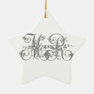 MR Wedding Monogram Ceramic Star Decoration