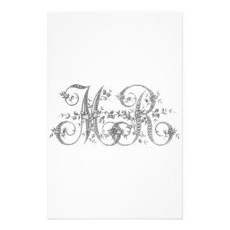 MR Wedding Monogram Stationery Paper