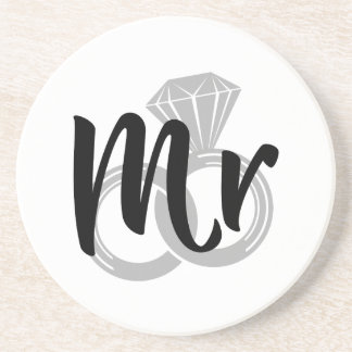 Mr Wedding Ring Groom Coaster