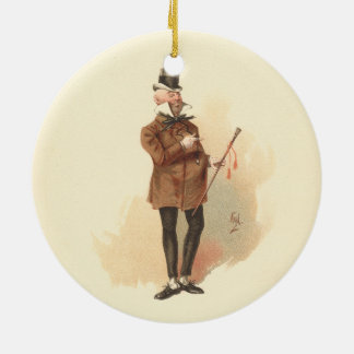 Mr. Wilkins Micawber David Copperfield Round Ceramic Decoration