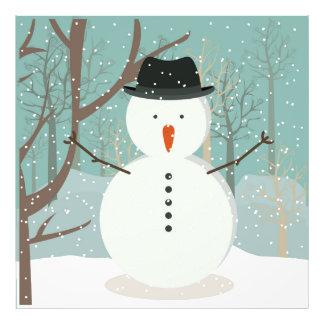 Mr. Winter Snowman Photo Print